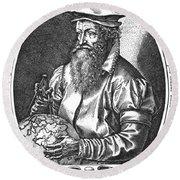 Gerardus Mercator, Flemish Cartographer Round Beach Towel
