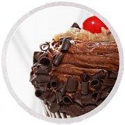 German Chocolate Cupcake 2 Round Beach Towel