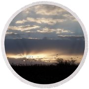 Gettysburg Dawn Round Beach Towel
