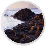 Giants Causeway, Co Antrim, Ireland Round Beach Towel