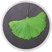 Ginkgo Leaf Round Beach Towel