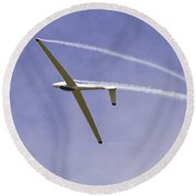 Glider Flying Aerobatics At Airshow Canvas Photo Poster Print Round Beach Towel