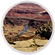 Grand Canyon Colorado River Round Beach Towel