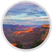 Grand Canyon Grand Sky Round Beach Towel