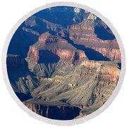 Grand Canyon Shadows Round Beach Towel