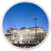 Grand Theatre In Warsaw Round Beach Towel