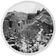Great Wall Of China, 1901 Round Beach Towel