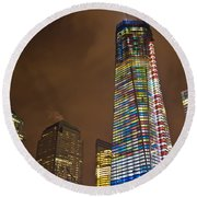 Ground Zero Freedom Tower Round Beach Towel