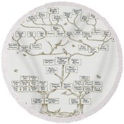 Guggenheim Family Tree Round Beach Towel by Science Source