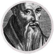Guillaume Farel (1489-1565) Round Beach Towel