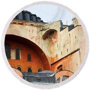 Hagia Sophia Byzantine Architecture Round Beach Towel