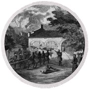 Harpers Ferry Insurrection, 1859 Round Beach Towel
