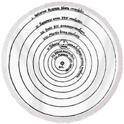 Heliocentric Universe, Copernicus, 1543 Round Beach Towel by Science Source