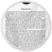 Henry Fielding (1707-1754) Round Beach Towel