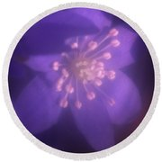 Hepatica Round Beach Towel