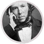 Herbert Spencer, English Polymath Round Beach Towel