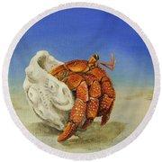 Hermit Crab Round Beach Towel