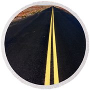 Highway To Nowhere Round Beach Towel