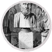 Hippocrates, Greek Physician, Father Round Beach Towel