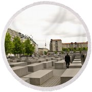 Holocaust Memorial - Berlin Round Beach Towel