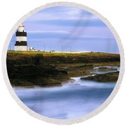 Hook Head Lighthouse, Co Wexford Round Beach Towel