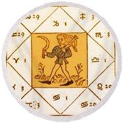 Horoscope Types, Engel, 1488 Round Beach Towel