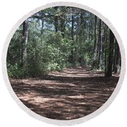 Horse Path Round Beach Towel