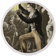 Humphry Davy, English Chemist Round Beach Towel