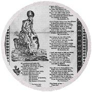 Hunters Of Kentucky, 1815 Round Beach Towel