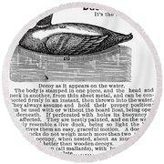 Hunting: Duck Decoy, 1895 Round Beach Towel