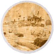 Hurricane, 1815 Round Beach Towel