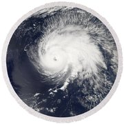 Hurricane Gordon Round Beach Towel
