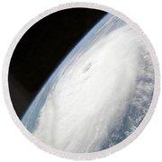 Hurricane Helene Round Beach Towel