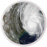 Hurricane Lili Round Beach Towel