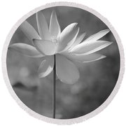 I Love Lotus Round Beach Towel