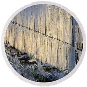 Ice Storm Round Beach Towel