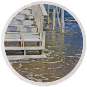 Incoming Tide Round Beach Towel