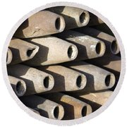 Inert Artillery Shells Are Stacked Round Beach Towel