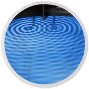 Intersecting Ripples Round Beach Towel
