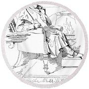 Isaac Disraeli (1766-1848) Round Beach Towel