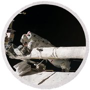 Iss Maintenance Round Beach Towel