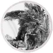 Italy: Florence, C1875 Round Beach Towel