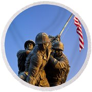 Iwo Jima Memorial Round Beach Towel
