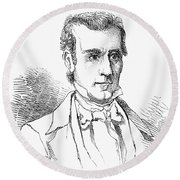 James K. Polk (1795-1849) Round Beach Towel