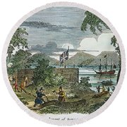 Jamestown Round Beach Towel