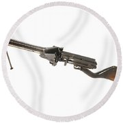 Japanese Type 11 Light Machine Gun Round Beach Towel by Andrew Chittock