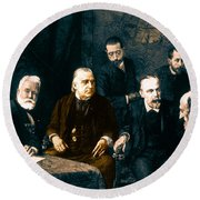 Jean-martin Charcot, French Neurologist Round Beach Towel