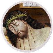 Jesus: Crucifixion Round Beach Towel