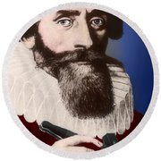 Johannes Kepler, German Astronomer Round Beach Towel by Science Source
