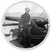 John Dahlgren, American Naval Officer Round Beach Towel